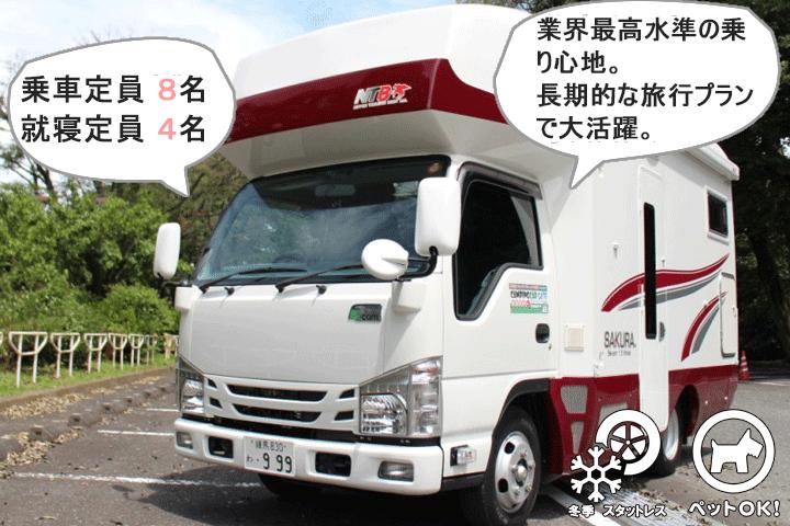 日本特種ボディー社製 SAKURA(サクラ)リアキッチンモデル