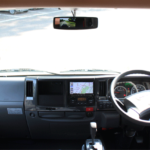 視界が広い運転席。最新ナビ搭載。