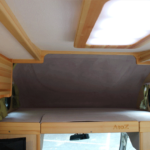 The size of the bunk bed on the driver's seat is 1,800 × 1,420 × 650(H)mm