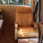 革張りのキャプテンシートで快適な旅を。