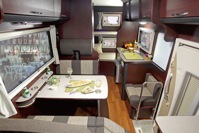 Ample bed size and luggage space.